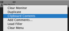 Clipboard Contents Menu Pick